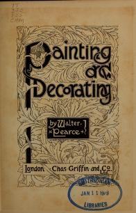 """Cover of """"Painting and decorating"""""""