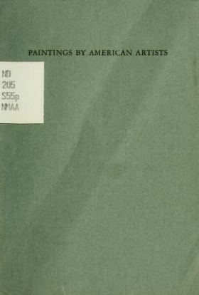 """Cover of """"Paintings by American artists"""""""
