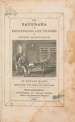 """Cover of """"The panorama of professions and trades"""""""