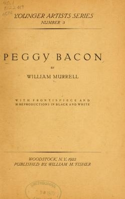 """Cover of """"Peggy Bacon"""""""