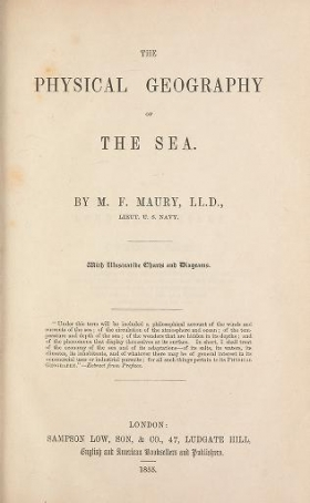 "Cover of ""The physical geography of the sea /"""