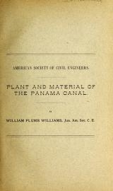 """Cover of """"Plant and material of the Panama Canal"""""""