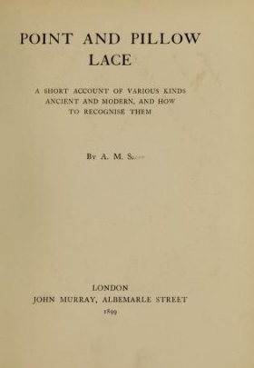 "Cover of ""Point and pillow lace"""