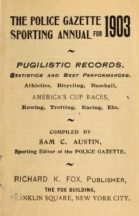 "Cover of ""Police gazette sporting annual"""