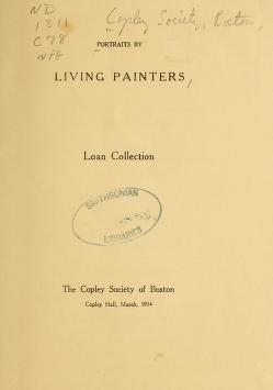 """Cover of """"Portraits by living painters"""""""