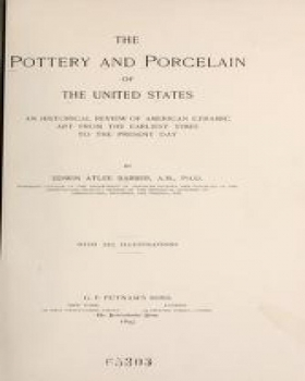 "Cover of ""The pottery and porcelain of the United States"""