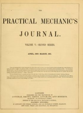 "Cover of ""The Practical mechanic's journal"""