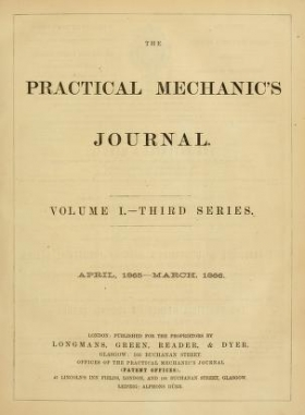 """Cover of """"The Practical mechanic's journal"""""""