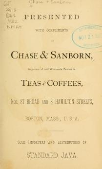 "Cover of ""Presented with compliments of Chase & Sanborn"""