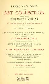 "Cover of ""Priced catalogue of the art collection"""