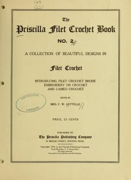 "Cover of ""The Priscilla filet crochet book, no. 2"""
