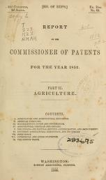 "Cover of ""Report of the Commissioner of Patents for the year"""