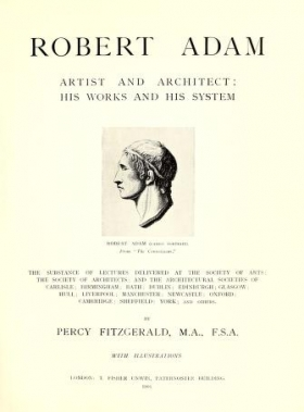 """Cover of """"Robert Adam, artist and architect"""""""