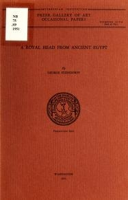 """Cover of """"A royal head from ancient Egypt"""""""