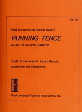 """Cover of """"Running fence"""""""