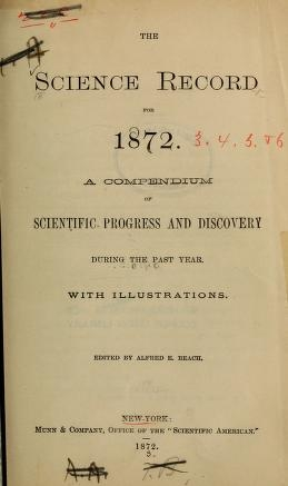 """Cover of """"The Science record"""""""