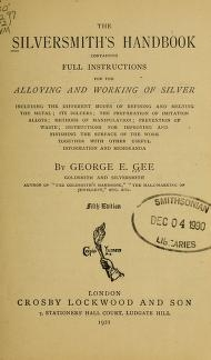 """Cover of """"The silversmith's handbook"""""""