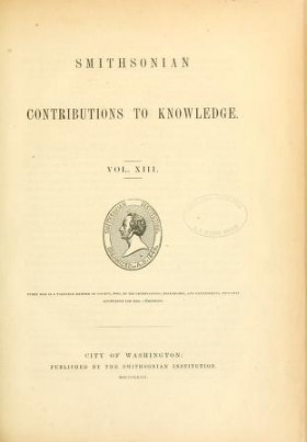 "Cover of ""Smithsonian contributions to knowledge"""
