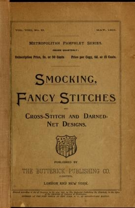 """Cover of """"Smocking, fancy stitches, and cross stitch and darned net designs"""""""