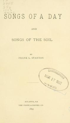 "Cover of ""Songs of a day"""