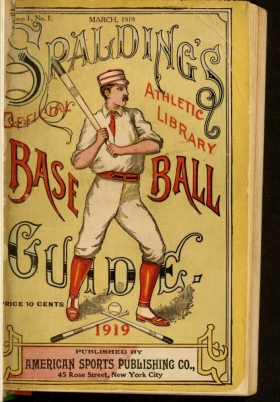 "Cover of ""Spalding's base ball guide, and official league book"""
