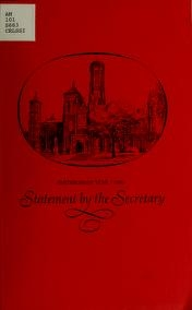 "Cover of ""Statement by the Secretary"""