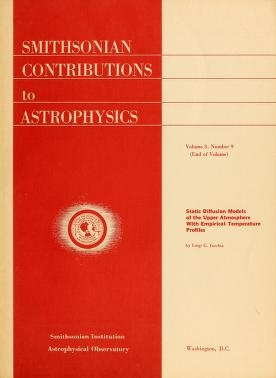 """Cover of """"Static diffusion models of the upper atmosphere with empirical temperature profiles"""""""