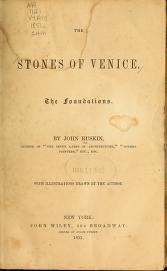 """Cover of """"The stones of Venice"""""""