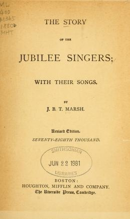 "Cover of ""The story of the Jubilee Singers"""