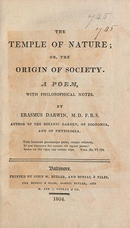 "Cover of ""The temple of nature, or, The origin of society : a poem, with philosophical notes /"""