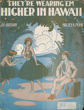 """Cover of """"They're wearing 'em higher in Hawaii"""""""
