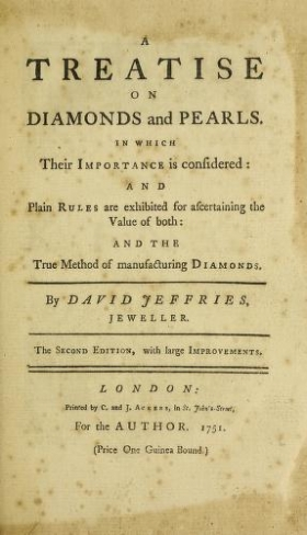 """Cover of """"A treatise on diamonds and pearls"""""""