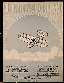 """Cover of """"Up in your old biplane"""""""