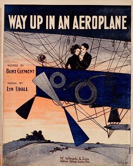 """Cover of """"Way up in an aeroplane"""""""