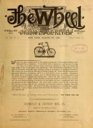 "Cover of ""The Wheel and cycling trade review"""