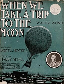 "Cover of ""When we take a trip to the moon"""