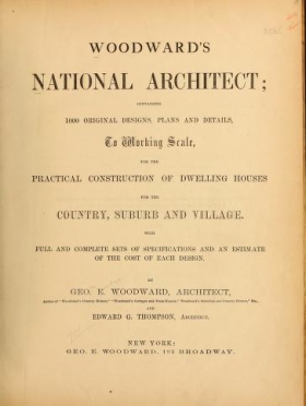 """Cover of """"Woodward's national architect"""""""