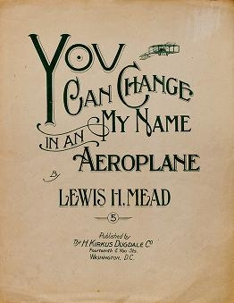 """Cover of """"You can change my name in an aeroplane"""""""