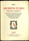 """Cover of """"Architectures"""""""