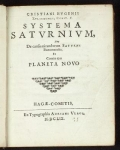 """Title page of """"Systema Saturnium..."""""""
