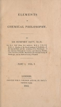 """Cover of """"Elements of chemical philosophy"""""""