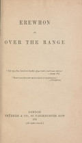 """Cover of """"Erewhon, or, Over the range"""""""