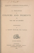 "Cover of ""Field's chromatography a treatise on colours and pigments for the use of artists /"""