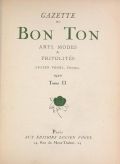 "Cover of ""Gazette du bon ton"""