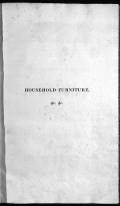 """Cover of """"Household furniture and interior decoration /"""""""
