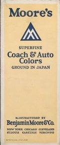 """Cover of """"Moore's superfine coach & auto colors  ground in Japan"""""""