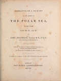 """Cover of """"Narrative of a journey to the shores of the polar sea"""""""
