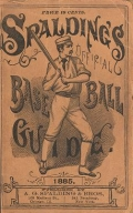 """Cover of """"Spalding's base ball guide, and official league book for 1885"""""""