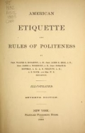 """Cover of """"American etiquette and rules of politeness"""""""