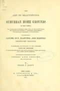 """Cover of """"The art of beautifying suburban home grounds of small extent..."""""""